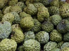 One of Thailand's most popular fruits the Sugar Apple has a white, creamy flesh covered by a lumpy green crust that makes it look like a giant, green raspberry. The incredibly sweet pulp is eaten with a spoon after the fruit is easily broken into two halves. Sugar Apples are usually blended with coconut milk, chilled and served as a delicious, light ice-cream. This is one fruit you have to try if you're ever in Thailand.