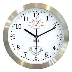 HITO Silent Non-ticking Wall Clock- Metal Frame Glass Cover, 10 inches * Final call for this special discount : Christmas Home Decor Best Wall Clocks, Wall Clock Silent, Led Wall Clock, Big Clocks, Silver Wall Clock, White Clocks, Analog Alarm Clock, Large Clock, Digital Wall