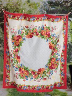 Motheru0027s Garden Tablecloth   Smoke | Table Linens U0026 Kitchen, Tablecloths  :Beautiful Designs By April Cornell | Decor | Pinterest | April Cornell, ...