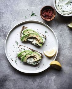 everything seeded life-changing loaf of bread toasted with cream cheese, avocado, dill, chili flakes & a squeeze of lemon . this bread is… Tartine Recipe, Matcha Milk, Bread Toast, Lemon Herb, Nut Free, Grain Free, Cheesecake Brownies, Good Healthy Recipes, Food 52