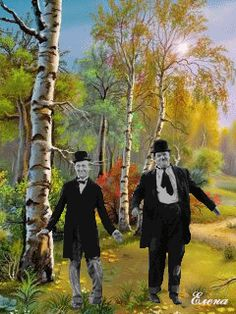 Stan Laurel and Oliver Hardy do the happy dance Laurel Et Hardy, Stan Laurel, Animiertes Gif, Animated Gif, Les Fables, Photo Star, Les Gifs, Happy October, Happy Dance