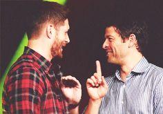 Jensen Ackles & Misha Collins - buddies