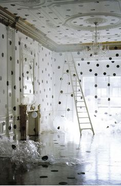 Tim Walker polka dot room