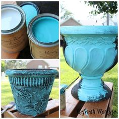 Pots Refreshed With Maison Blanche Outdoor Paint