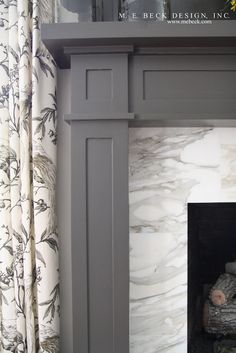 My Blue & White Fireplace Tile - Should it Stay or Go?