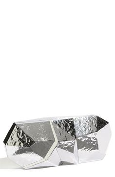 """Hammered silver """"Maryanne"""" minaudiere. Wear it with color or black and white. It goes with everything...promise!"""