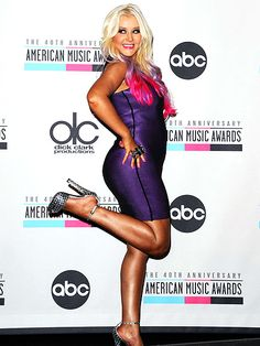 Christina Aguilera is rocking bright colorful #hair. Get the look with clip-in color #extensions!