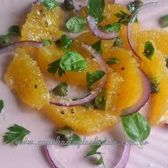 Cozinha Simples da Deia: Salada de laranja com Alcaparras e Cebola Roxa