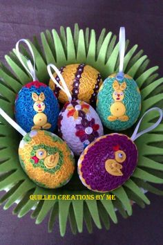Quilled Easter eggs made by Quilled Creations by Me