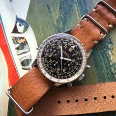 Breitling Navitimer 806 with vintage leather strap