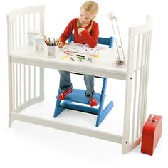 Stokke Desk: If DIY isn't your thing, the Stokke Care changing table ($500) is designed to be turned into a large or small desk with a conversion kit ($210).