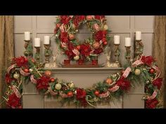 How To Create a Spectacular Christmas Garland for Your Mantel (Full Length) - YouTube