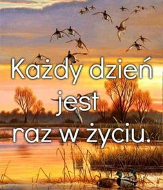 Każdy dzień jest raz w życiu Positive Mind, Positive Quotes, Magic Day, Plus Belle Citation, Typography Quotes, Powerful Words, Motto, Quotations, Me Quotes