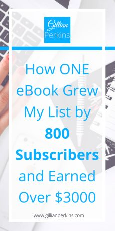Last year I wrote my first ebook. My audience was tiny (like, virtually nonexistent), but it still earned me over $3000 and grew my email list like CRAZY. Find out what I did in this blog post!