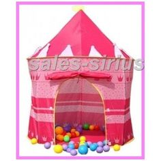 Childs-Play-Tent-Princess-Fun-House-Toddler-Gift-Castle-Girls-Pink-Bed-Room-Kids