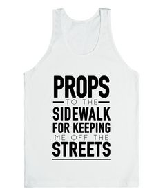 Look what I found on #zulily! White 'Off The Streets' Tank by Skreened #zulilyfinds