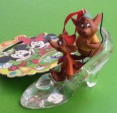 Disney Store 2012 Cinderella's Mice Gus Jac in Slipper Ornament NEW