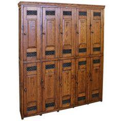 Antique American School Oak Lockers