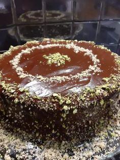 Νηστίσιμο κέικ με ξηρούς καρπούς, γλάσο κουβερτούρας και κακάο - Όλο αρώματα και γεύση Avocado Recipes, Vegan Recipes, Meals Without Meat, Tiramisu, Pudding, Baking, Ethnic Recipes, Desserts, Food