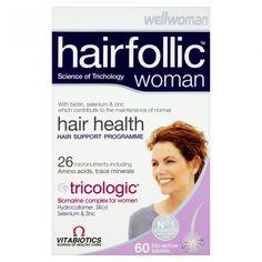 Vitabiotics Wellwoman Hairfolic Tricologic Δράση Στην Υγεία Του Τριχωτού Της Κεφαλής 60tabs. Μάθετε περισσότερα ΕΔΩ: https://www.pharm24.gr/index.php?main_page=product_info&products_id=4209