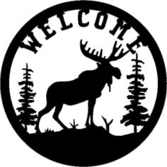 iron moose signs | moose welcome sign (Powered by CubeCart)