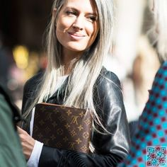 24. #Sarah Harris' Style - #Could You Rock Granny Hair? #These Grey-Hair #Inspos Will Make You Say YES! → Hair #Granny