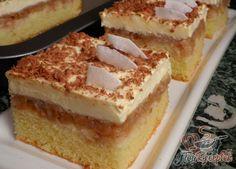Fordított almás szelet pudingkrémmel | TopReceptek.hu