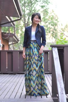The one hour 2-in-1 Maxi dress or skirt tutorial