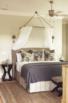 canopy; headboard and bedskirt; Interior Philosophy, portfolio