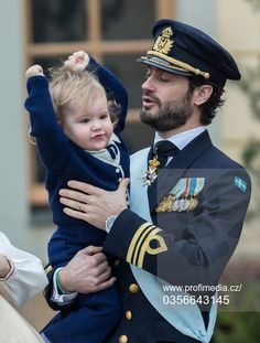 Prince Carl Philips and Prince Alexander at the christening of his 2nd son Prince Gabriel on Dec. 1, 2017