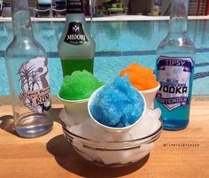 What is the best thing for summer? Our Adult Snow Cones will take you to the next level! The Snow Cones are made with Vodka, Rum, Melon Liqueur, Pucker, and Hawaiian Punch! Fun Cocktails, Party Drinks, Summer Drinks, Cocktail Drinks, Fun Drinks, Non Alcoholic Drinks, Beverages, Drinks Alcohol, Raspberry Vodka