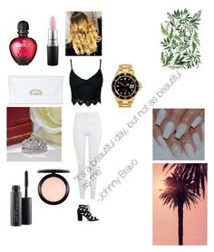 """Love the style ! "" by sebastian97s ❤ liked on Polyvore featuring Topshop, Sole Society, MAC Cosmetics, Christian Louboutin, Rolex and Paco Rabanne"