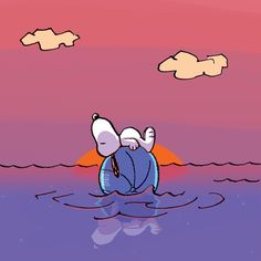 #Snoopy swimming
