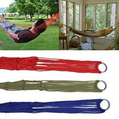 5.47$  Buy now - http://ali9uq.shopchina.info/go.php?t=32781570449 - Outdoor Travel Portable Nylon Mesh Hammock Camping Garden Hanging Sleeping Bed Rope  #buyininternet