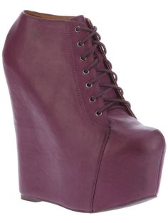 JEFFREY CAMPBELL  PLATFORM WEDGE LACE-UP