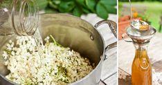 Tradičný recept na bazový sirup, ktorý vás osvieži počas letných mesiacov. Prinášame ten najlepší recept, ako od babičky. Domáci sirup z kvetov bázy čiernej Drinks, Food, Syrup, Beverages, Essen, Drink, Beverage, Yemek, Meals