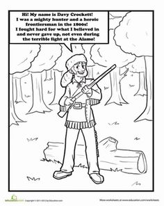 davy crockett coloring page - paul bunyan coloring page classroom ideas pinterest