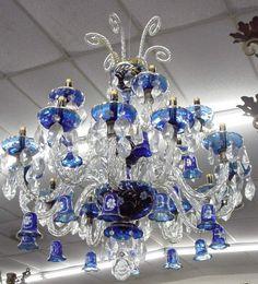 Blue chandelier, Hyderabad, India | Light Up The Night | Pinterest ...