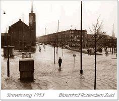 Rotterdam - Strevelsweg, watersnoodramp, 1953