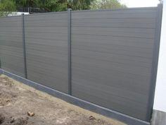 Lärmschutz Zaun / Sichtschutz Zaun aus WPC (wood polymer