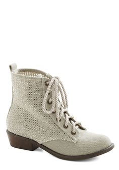 Enduring Encounter Boot. Sometimes a chance encounter stays with you a lifetime. #cream #modcloth