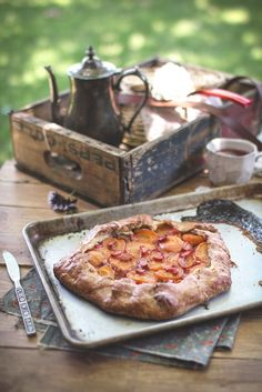 Apricot & Rhubarb Galette With a Scottish Shortbread Crust