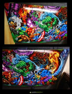 Marvel Comics Characters Airbrush Art by EnoksLaboratory on DeviantArt
