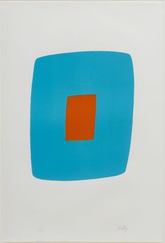Ellsworth Kelly, Light Blue with Orange, 1964, Susan Sheehan Gallery
