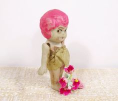 Vintage Kewpie Bisque Charlotte Doll  Hot by UrbanRenewalDesigns, $21.00