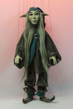 marioneta duende verde marioneta marionetas por EtceteraMarionettes