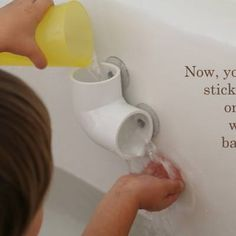 Hardware Store Bath Toys DIY {Bath Toys}Here is a clever bath toy that starts with a quick trip to your local hardware store. From there all you'll need are some suction cups and a drill! Easy to make, hours of bath time to be had!View This Tutorial