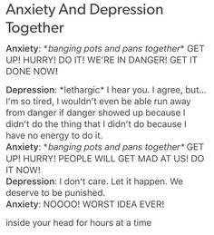 anxiety + depression #Factsaboutanxietyanddepression