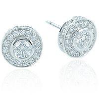 Diamantøredobber - Halo - Halo Øredobber 1,66ct Halo Halo, Stud Earrings, Jewelry, Jewlery, Bijoux, Ear Gauge Plugs, Jewerly, Stud Earring, Jewelery