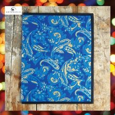 ARTESANIA - INDIA  | Handmade File Folder: Blue Paisley / Rs.150